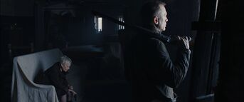 Skyfall - M and Bond wait for Silva