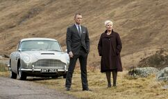 Bond and M in Scotland with the DB5, Skyfall