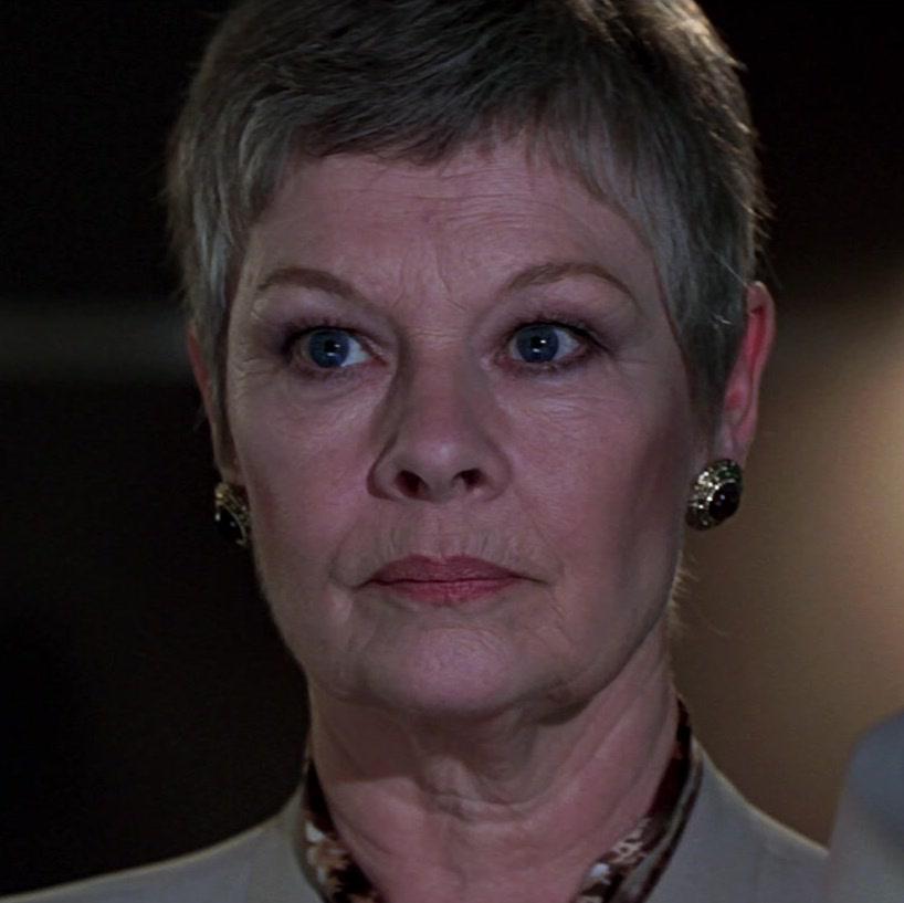 M (Judi Dench) (classic film continuity)