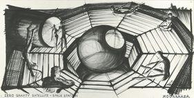 Zero gravity satellite - space station (Ken Adam concept)