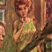 Moneypenny (Literary) - illustration by Howard Mueller
