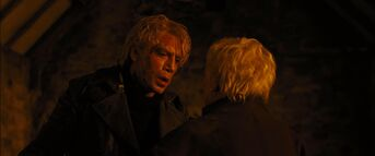 Skyfall - Silva confronts M in the Chapel