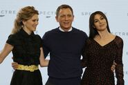 Spectre press conference - Craig, Bellucci, Seydoux