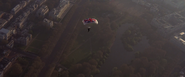 Graves sautant en parachute