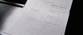 Letter, Gumbold to Blofeld
