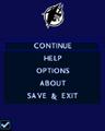 SilverFin (mobile game) menu
