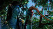 Neytiri making Tsahaylu with Seze 2 (red-cyan) photoshop