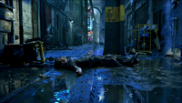 Lying in the alley