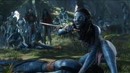 Neytiri protects jakes avatar