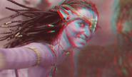 Neytiri smiling (redcyan)