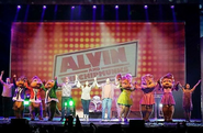 The cast of Alvin and The Chipmunks The Musical!