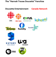 An advertisement note about the Hannah Tracee Doucette franchise