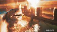 4K JAWS Scene on the Nighttime Studio Tour 2015 - Universal Studios Hollywood