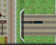 Train Exits Railway