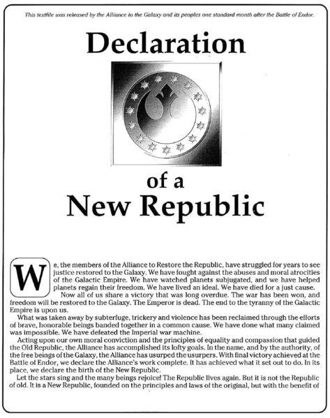 Proklamation der Neuen Republik