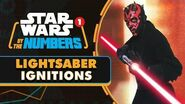 Every Lightsaber Ignition in the Star Wars Films Star Wars By the Numbers