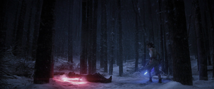 Rey hat Kylo Ren besiegt.