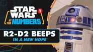 """Every """"R2-D2"""" Beep in Star Wars A New Hope Star Wars By the Numbers"""