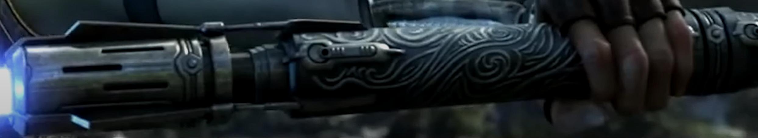 Satele Shans zweites Doppelklingen-Lichtschwert