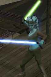 Aayla Securas grünes Lichtschwert