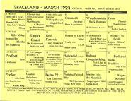 Spaceland calendar 1998-03
