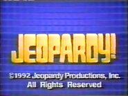 Jeopardy! 1992 Grid Set Closing Card-2