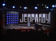 Jeopardy! 1985 set with lights down
