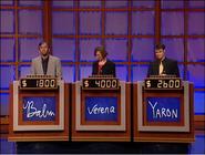 Jeopardy! sushi bar set contestant podiums 1