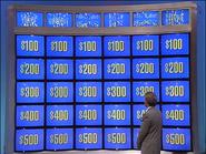 Jeopardy! 1991-1996 game board