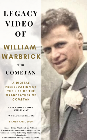 Official Cover of The Legacy Video of William Warbrick.