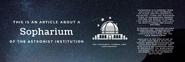 Sopharium Notice