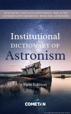 The Institutional Dictionary of Astronism First Edition Cover