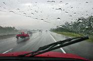 Wiper in car