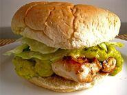 Chicken Sandwich with Mango Guacamole 500