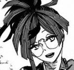 Yuzuriha with glasses