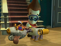 Jimmy Neutron Goddard with water propellers