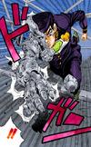 Josuke caught by Superfly manga
