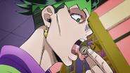Rohan licks a spider