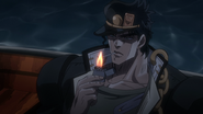 Jotaro smoking anime