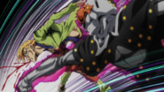 Fugo punched by mitm