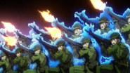 BC troops firing