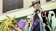 Jotaro threatening Kira.png