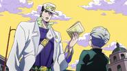 Jotaro questions Koichi
