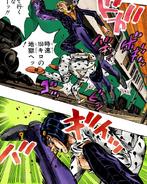 Prosciutto kicking Bucciarati