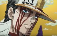 Smiles proudly of Koichi