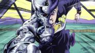 Josuke caught by Superfly