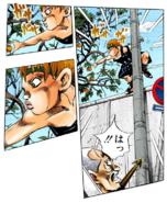 Ken reaching an apple