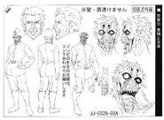 Police zombie anime ref