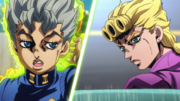 Koichi uses Echoes on Giorno.png