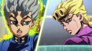 Koichi uses Echoes on Giorno